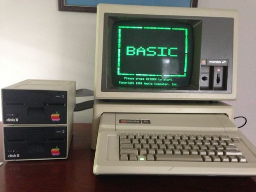 Details about apple iie computer With Disk Drives | I