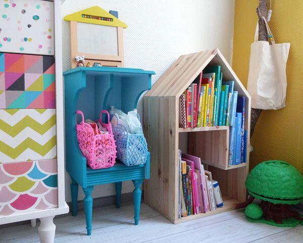 maison biblioth que faite maison couture turbulences blog pinterest fait maison faire. Black Bedroom Furniture Sets. Home Design Ideas