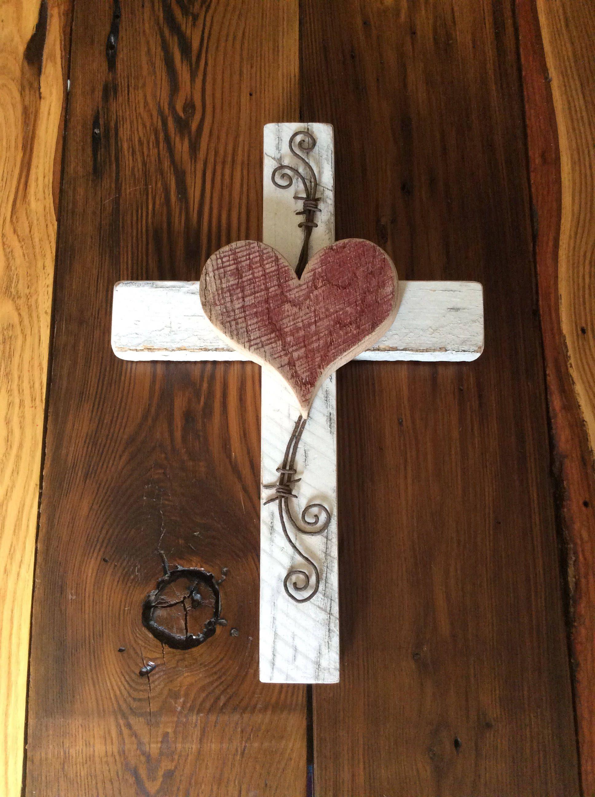 Rustic Cross Wooden Handmade Wall Decor