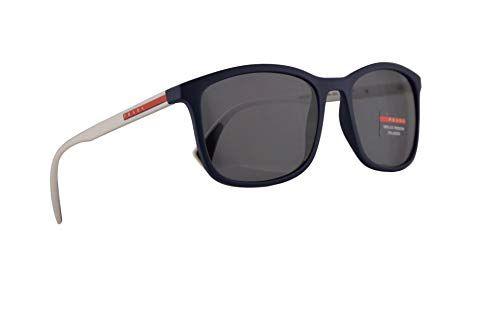 3d0360605f4ed Prada PS01TS Sunglasses Blue Rubber w Polarized Grey 56mm Lens 288255 PS  01TS SPS 01T SPS01T