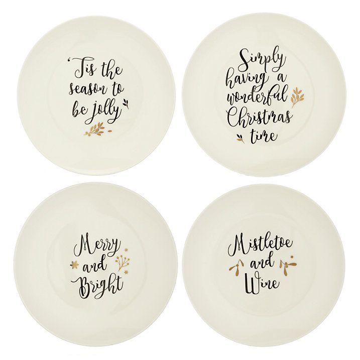 Buy John Lewis Winter Palace Christmas Text Plates Set of 4 Online at johnlewis.  sc 1 st  Pinterest & Buy John Lewis Winter Palace Christmas Text Plates Set of 4 Online ...