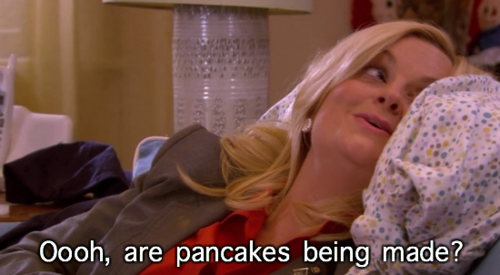 Image result for pancakes parks and rec gif