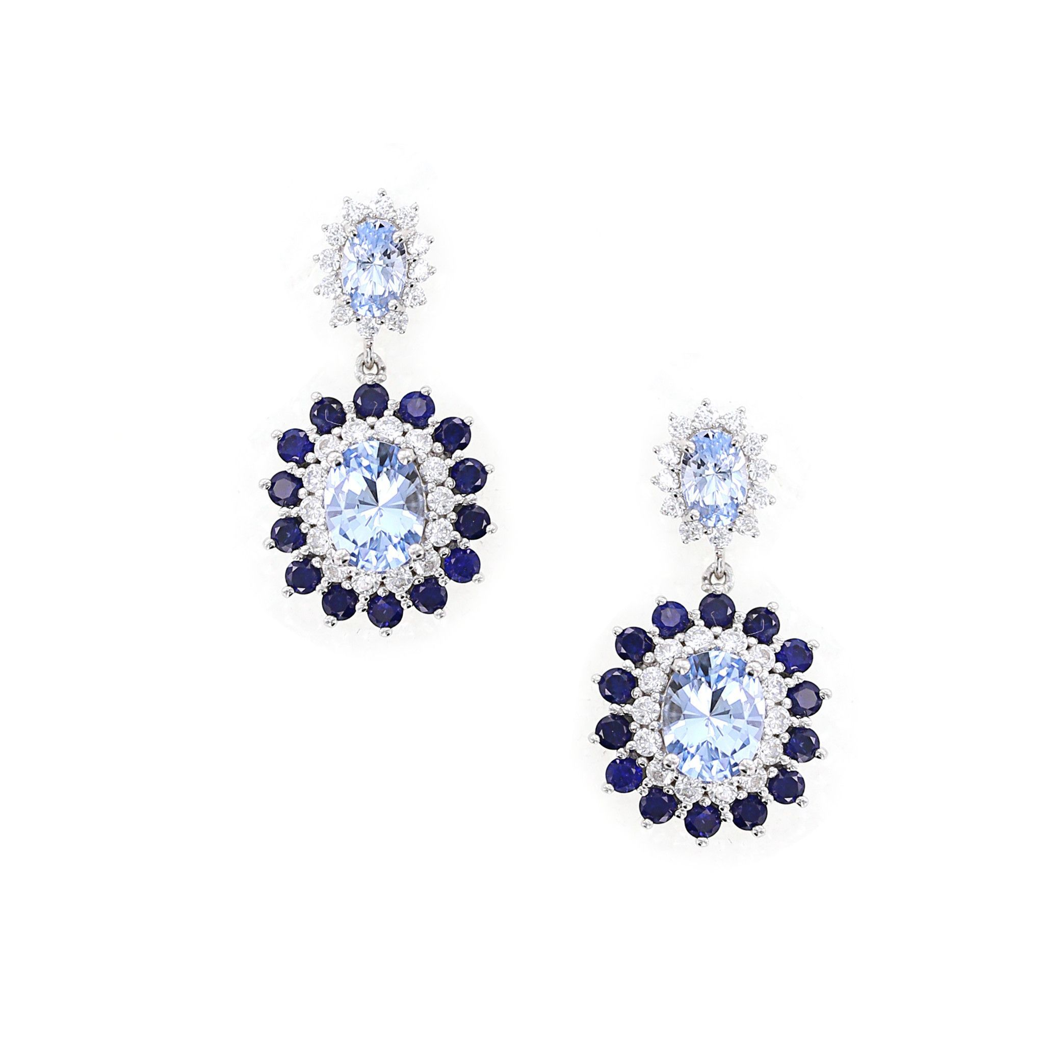 Couture Tails Shire Flower Drop Earrings