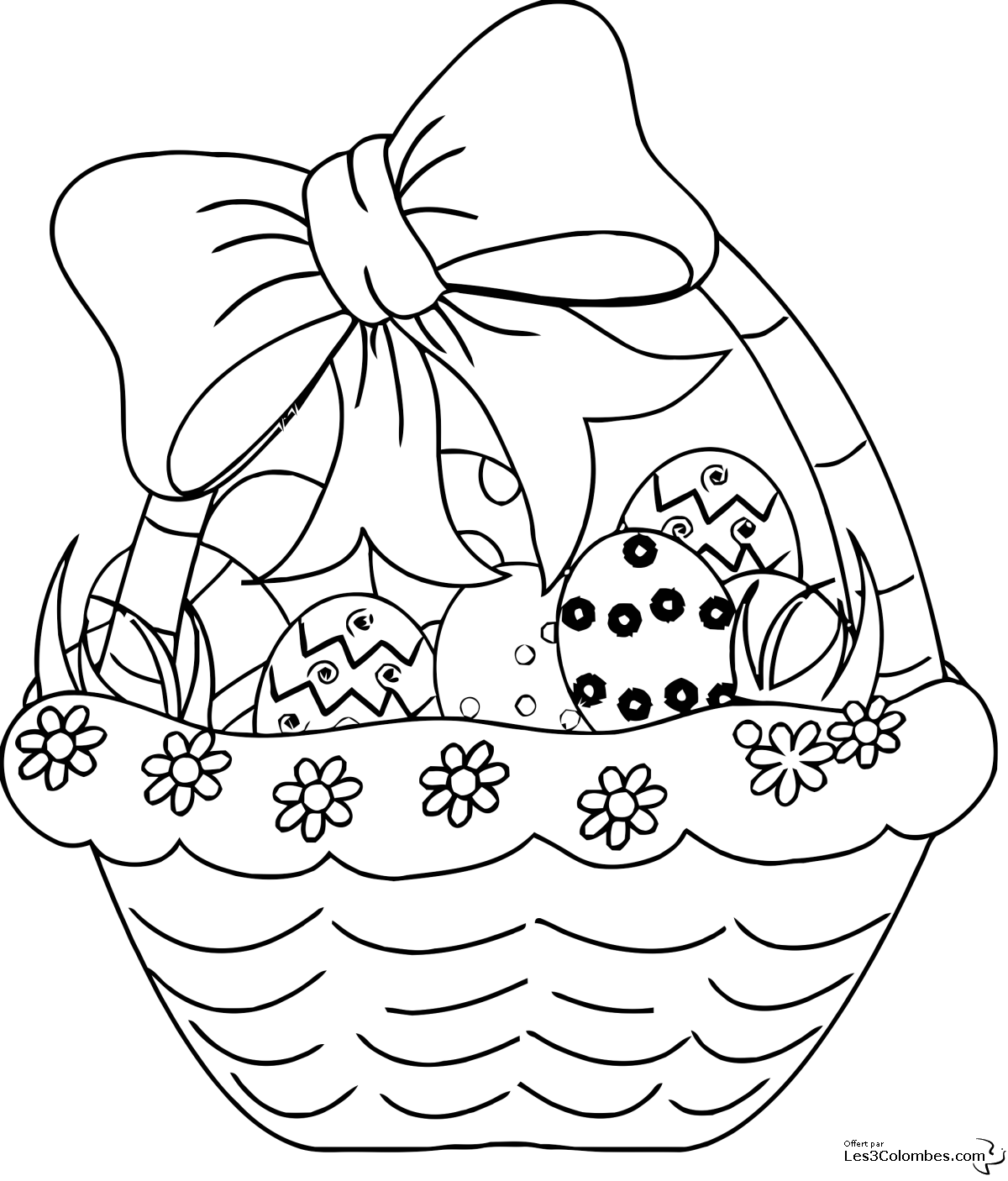 coloriage joli panier oeuf de printables pinterest easter. Black Bedroom Furniture Sets. Home Design Ideas