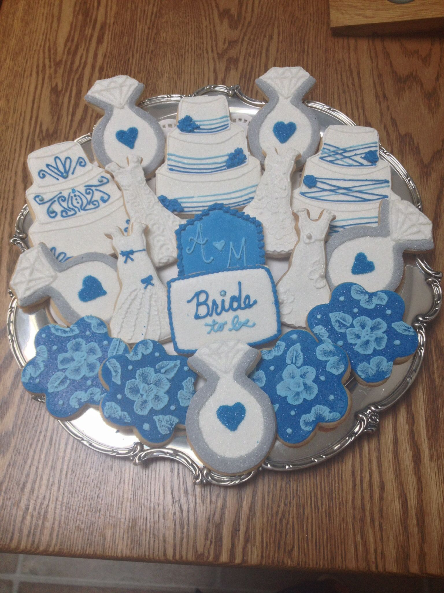 Amandaus bridal shower cookies vanilla sugar cookies wedding