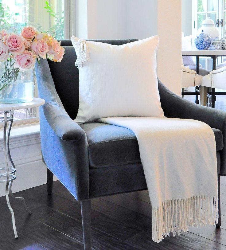 white velvet chair for bedroom
