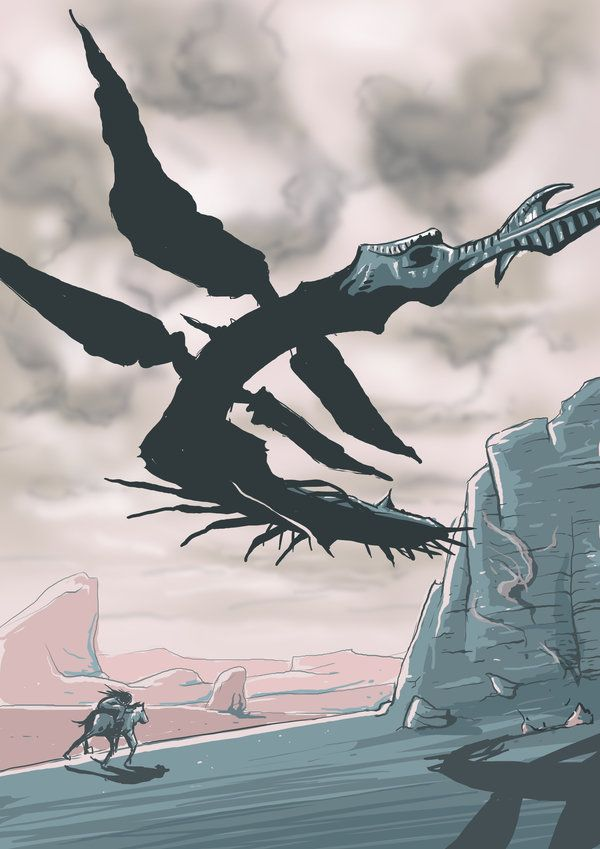 day 17 shadow of the colossus phalanx by ookhappy