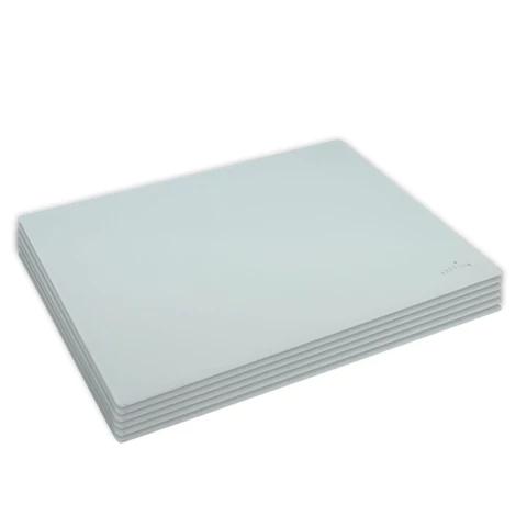 Harbour Housewares Glass Placemats Set 30 X 20cm White Pack