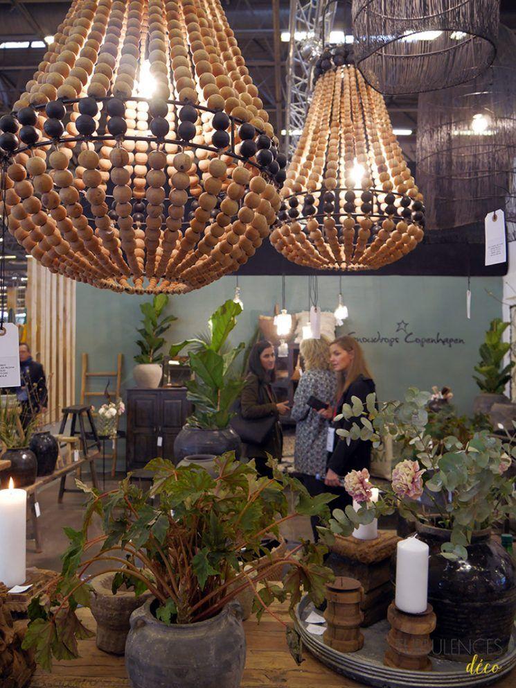 Idée diy chandelier stand snowdrops copenhagen maison et objet janvier 2017 hall 1 turbulences