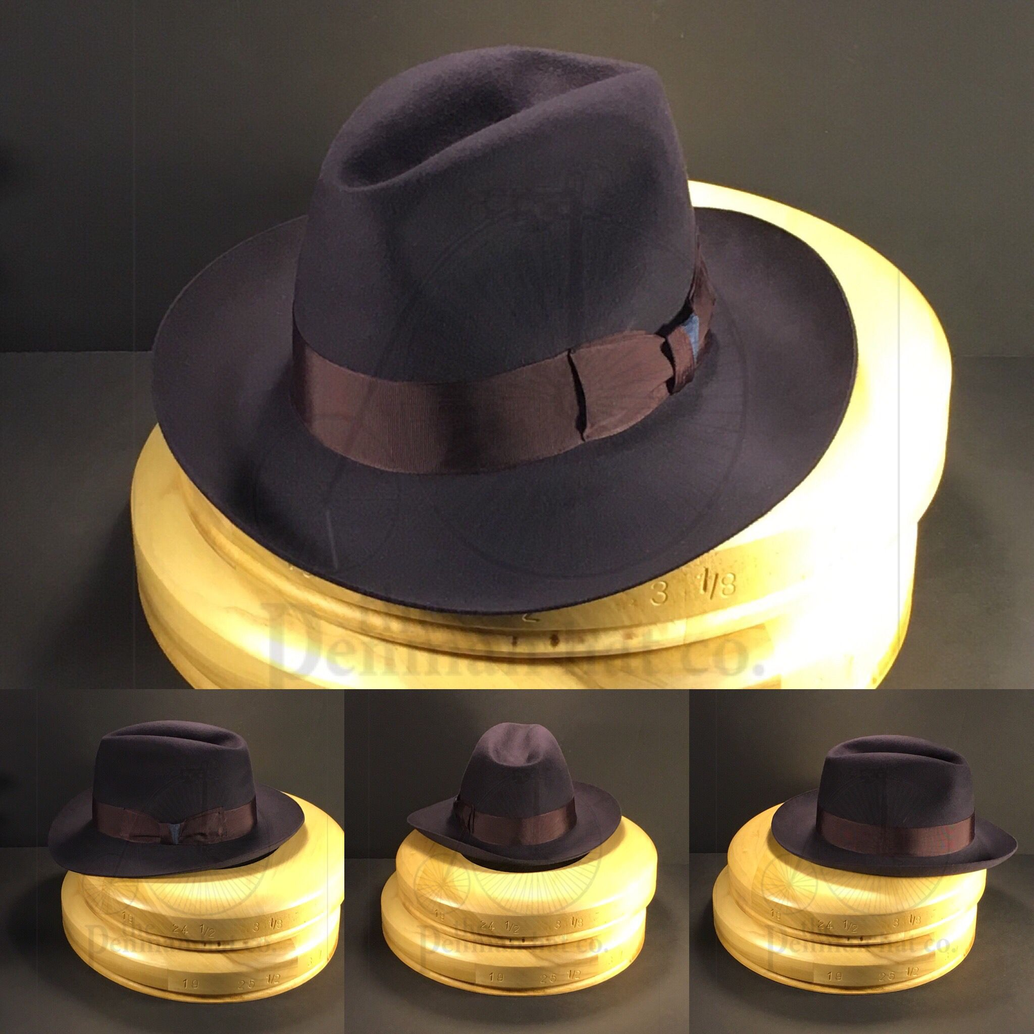 b81a9b4db Just finished this eggplant colored bespoke fedora with a vintage ...