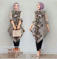 Model Batik Kerja Wanita Muslimah Model Pakaian Pakaian Wanita Baju Atasan Wanita