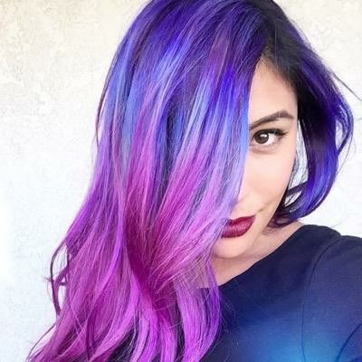 pincaitlin on makeup  purple hair hair ihascupquake