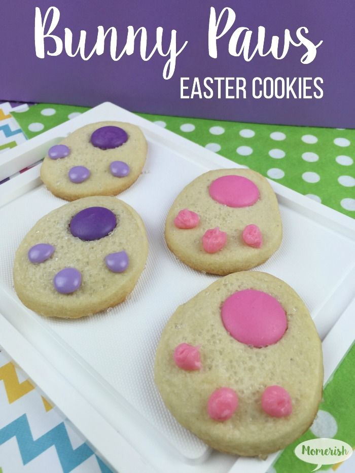 Looking For Fun Easter Treats These Bunny Paws Cookies Are Easy To Make And Cute Display On The Dessert Table