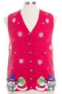 Red Ugly Christmas Vest 28341