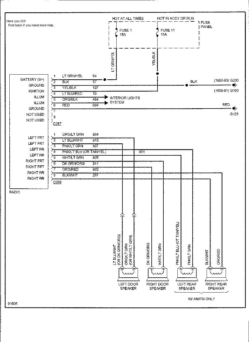 ford factory amplifier wiring diagram 91 ford ranger wiring diagram within  94 radio within 94 ford r | electrónica  pinterest
