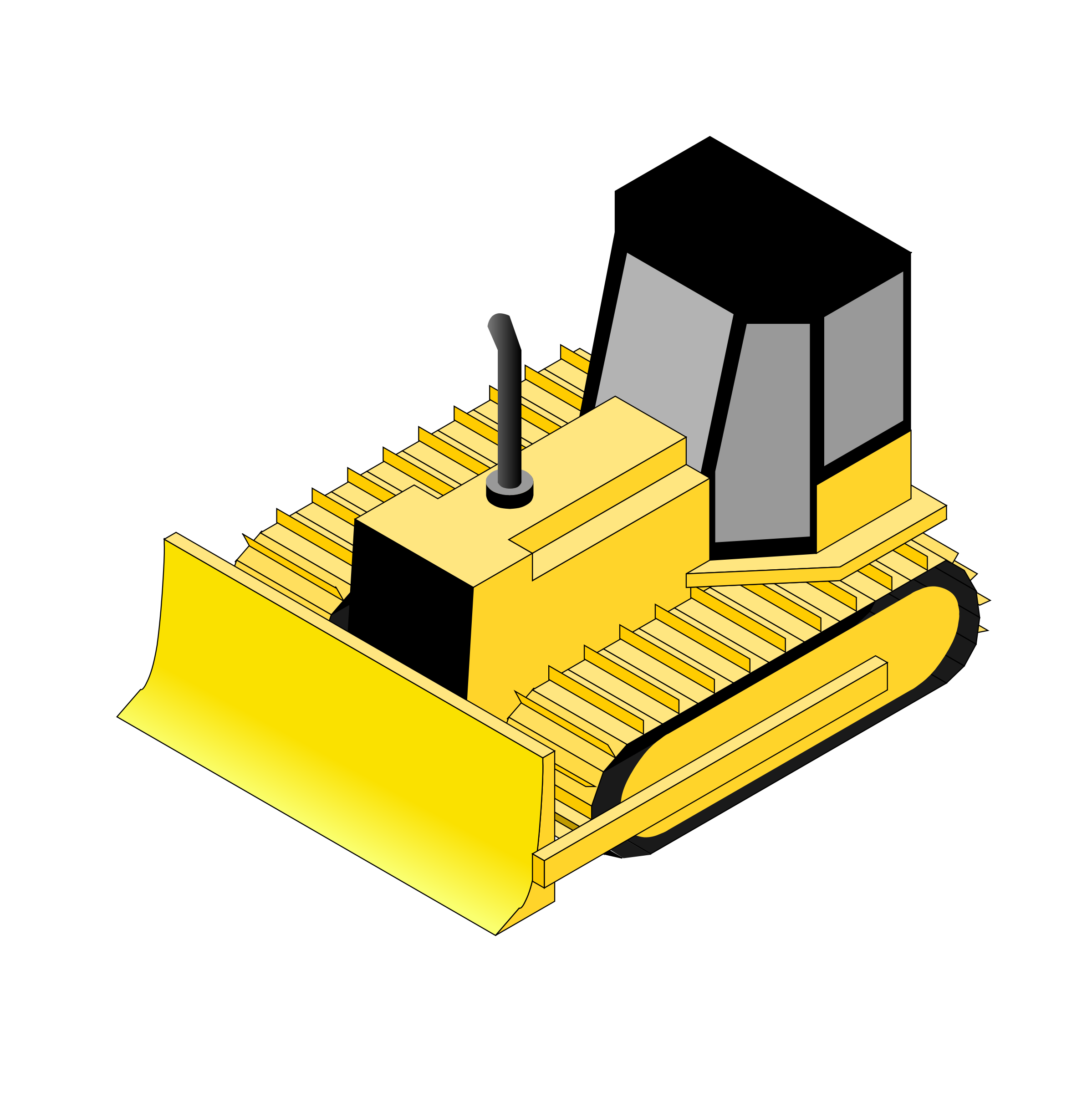 Isometric bulldozer Animation by @danjiro, Animation of a