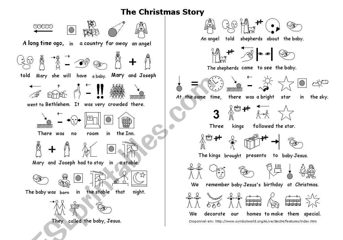 The Christmas Story Worksheet