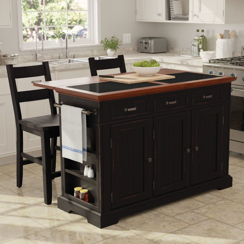 Hewson Kitchen Island Set Kitchen Design Small Kitchen Island With Granite Top Kitchen Island With Seating