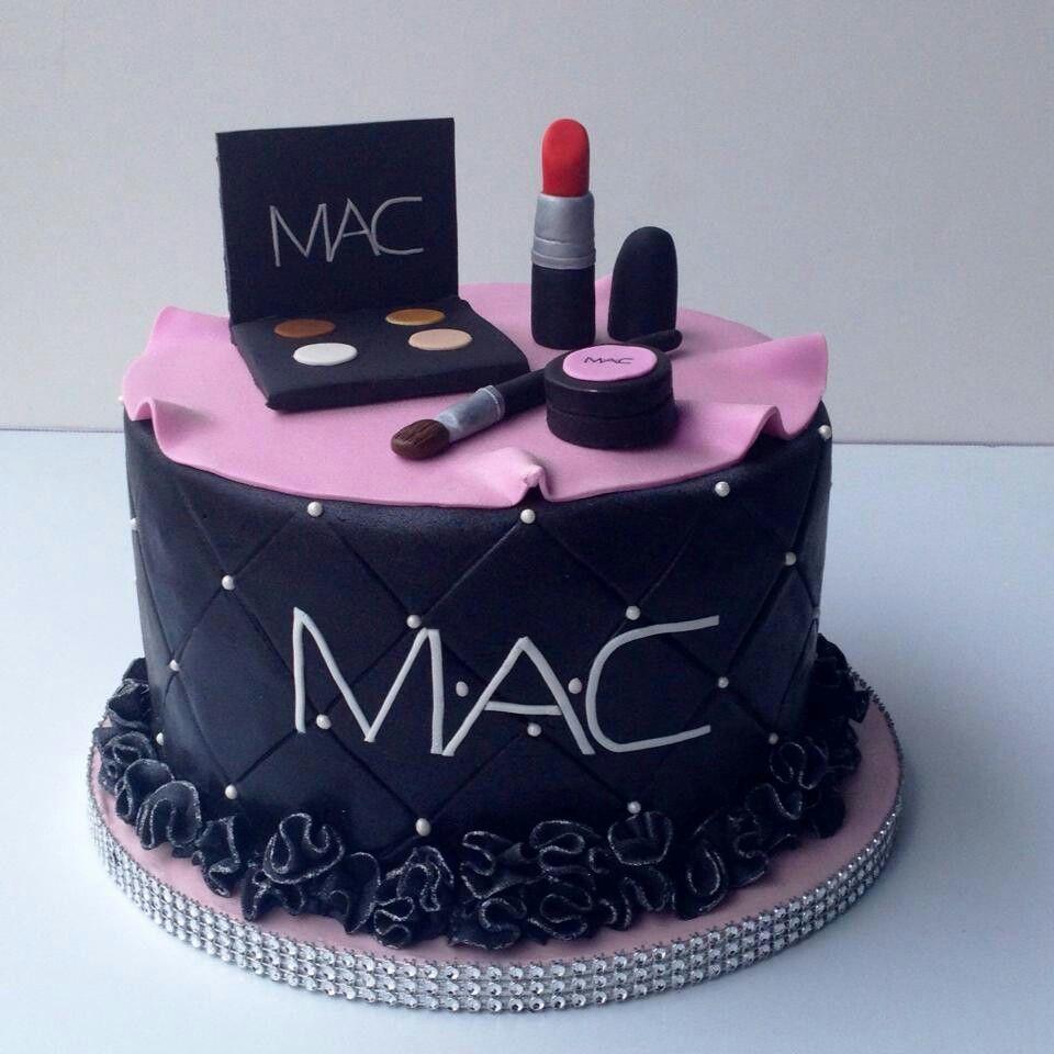 Mini Mac Makeup Cake Perfect With Images Make Up Cake