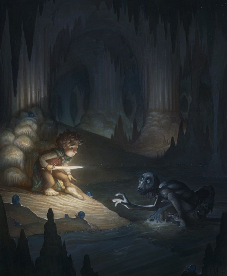 Riddles in the Dark By Justin Gerard Its Hobbit Day