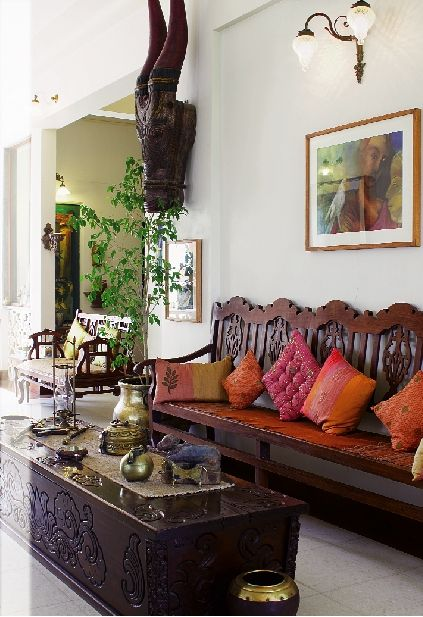 Kavita berry 39 s house in bandra mumbai inside outside for Indian ethnic living room designs