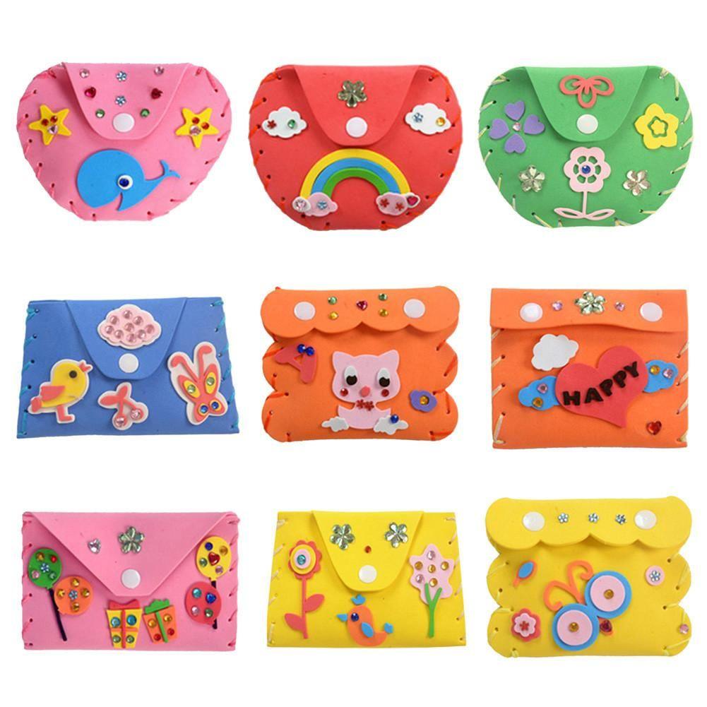 DIY Eva Foam Handbag Puzzle Learning Educational Toy Gifts for Children