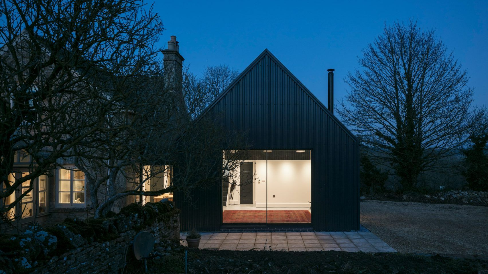 Corrugated Metal Extension By Eastabrook Architects Cotswolds Cottage Stone Cottage Stone Cottages
