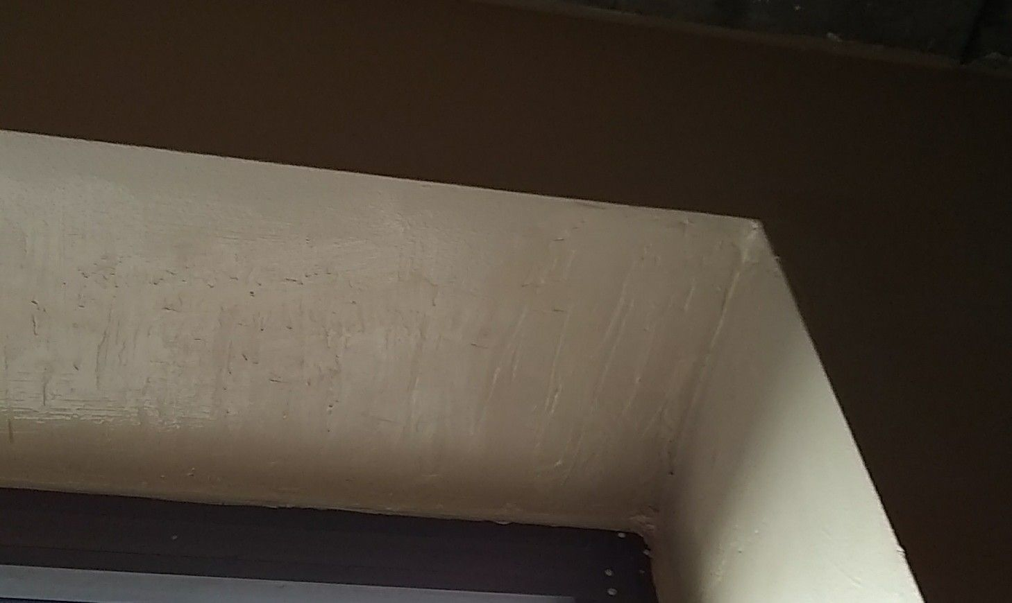 Finished with paint and drywall joint compound always
