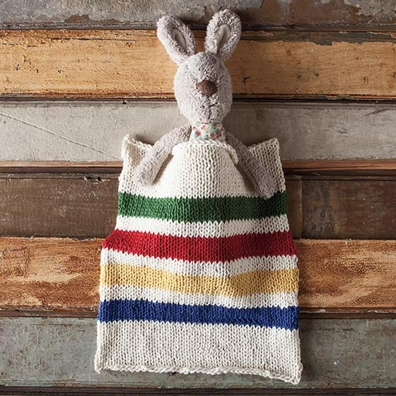 Hudson's Bay Inspired Dishcloth   Knit Fix   Dishcloth