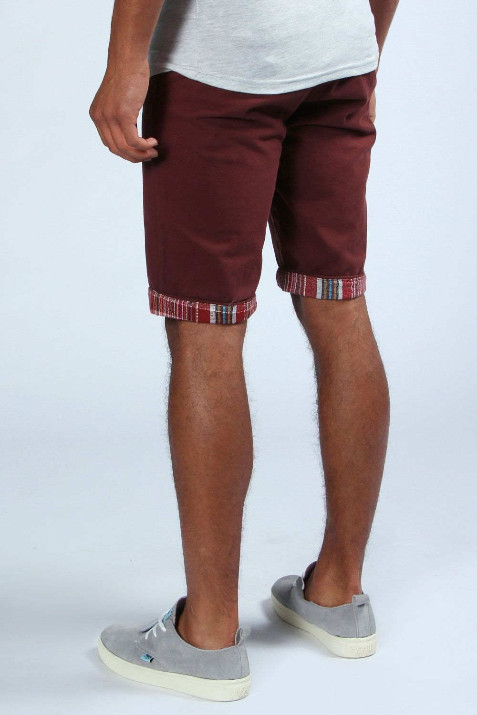 Chino Shorts With Turn Up at boohoo.com