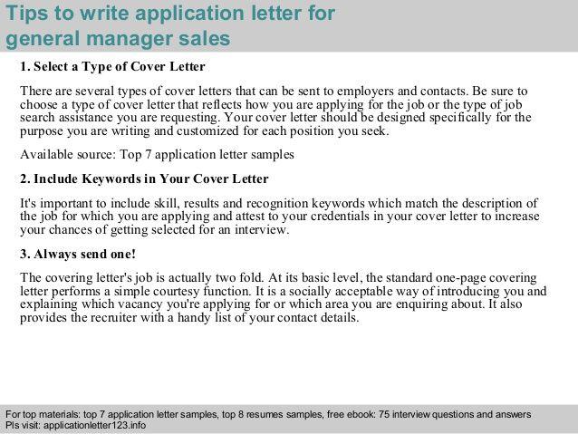 general manager sales application letter News to Go 3 Pinterest - sample pregnancy resignation letters