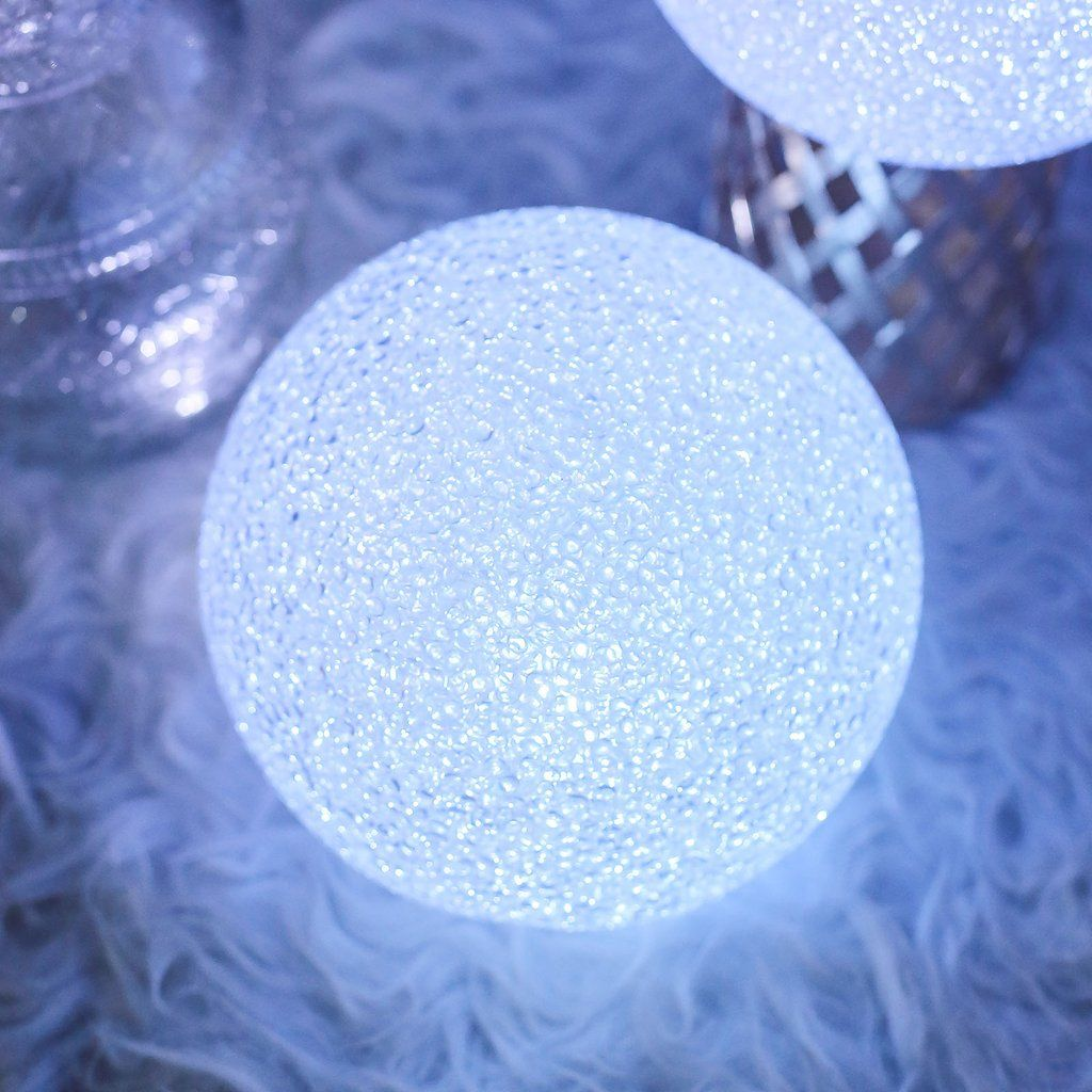 10 Color Changing Portable Led Centerpiece Ball Lights Battery Operated Led Orbs In 2020 Led Ball Lights Ball Lights Orb Light