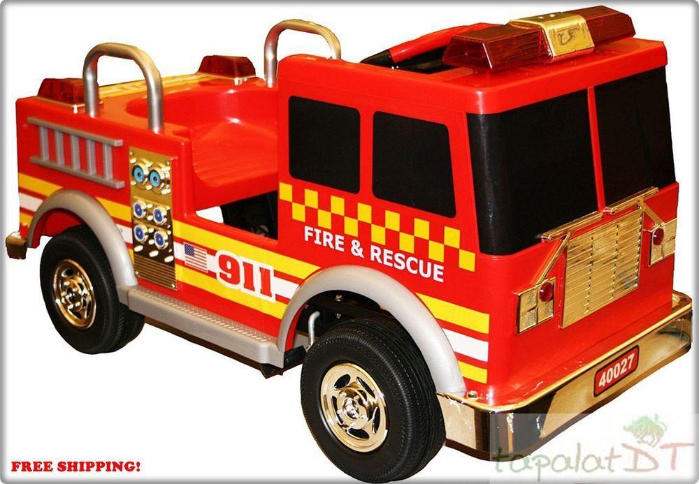 Fire truck rideon kids car children new kalee 12volt