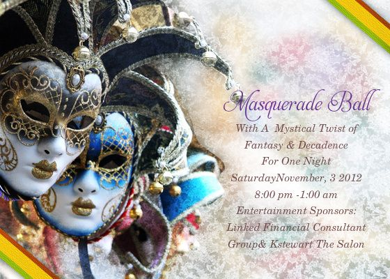 Masquerade Ball Invitations Free Templates B Masquerade Ball B