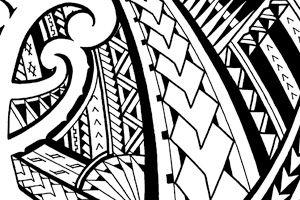 Samoan Inspired Sleeve Tattoo Design With Maori Koru Shapes