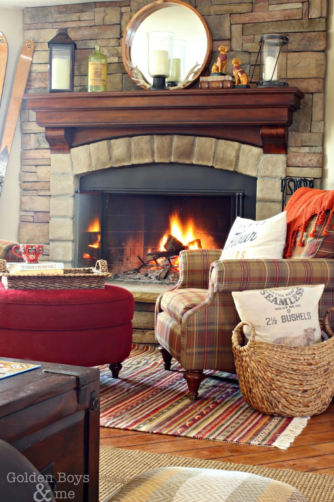 Living Room Corner Furniture Designs: Living Room With Fireplace, Fireplace