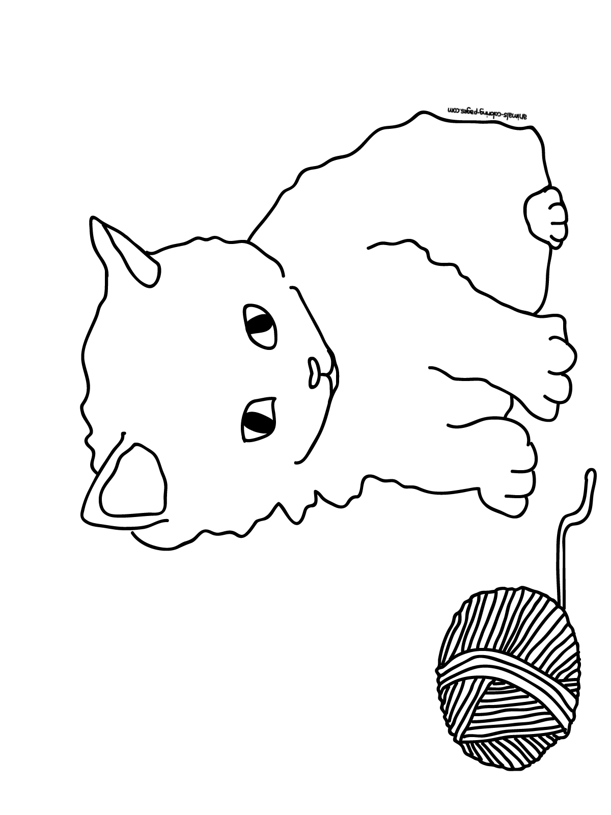 Coloring Pages Animals Coloring Page Of A Kitten