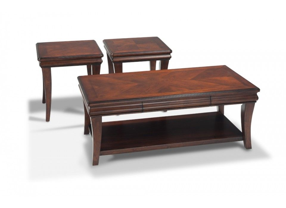 Louie coffee table set coffee end tables living room for Bobs furniture living room sets