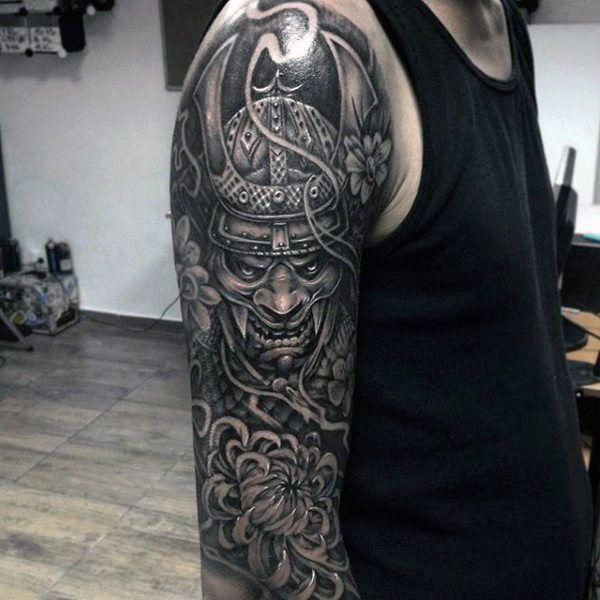 Top 103 Samurai Mask Tattoo Ideas [2021 Inspiration Guide]