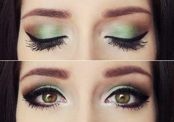 Mint Green With Chocolate Makeup Inspiration Eye Makeup Makeup