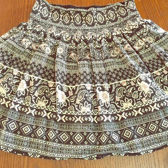 Trendy Boho skater skirt mini printed skater skirt Forever 21 Skirts Circle & Skater