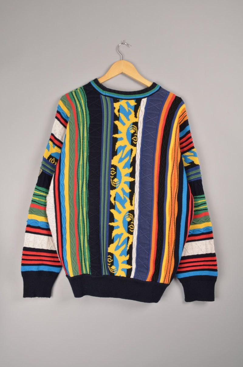 2b25af81e2 Carlo Colucci Vintage Crewneck Coogi Cardigan 80 s 90 s Retro Sweater  Hoodie Sweatshirt Size  L door getfittedvintage op Etsy