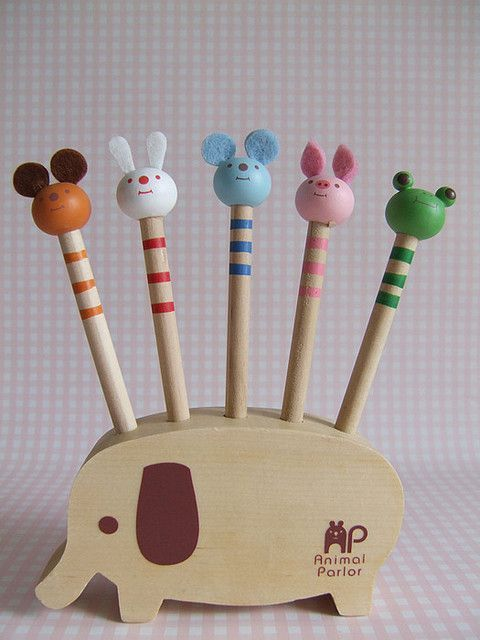 Elephant Pencil Holder (helps To Have Cute Pencil Heads Also!)