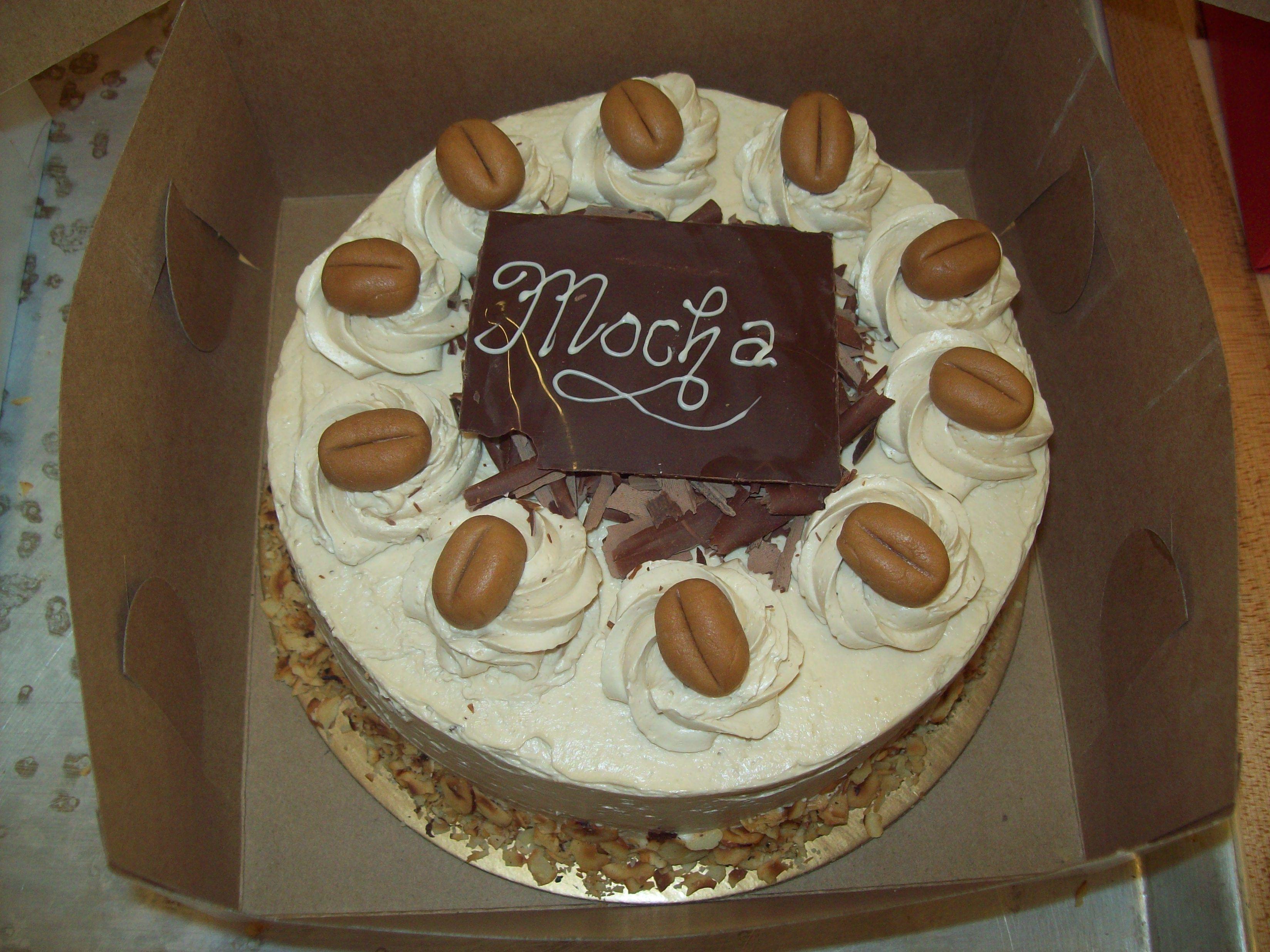 Mocha Chocolate Cake With Marzipan Coffee Bean Decorations Chocolate Mocha Cake Baking Cake