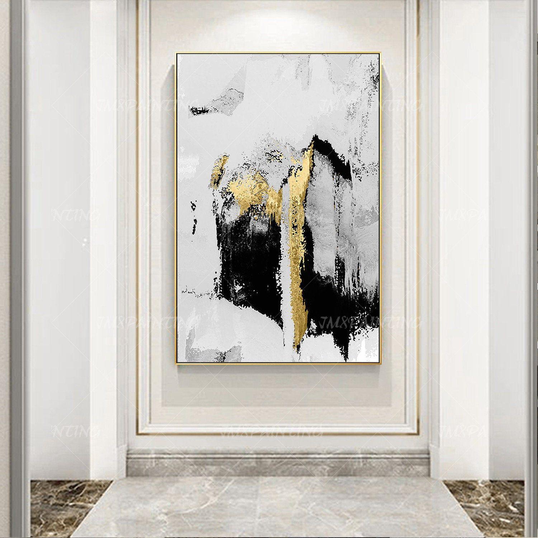 Black white Art Framed wall art minimalist Abstract Original ...