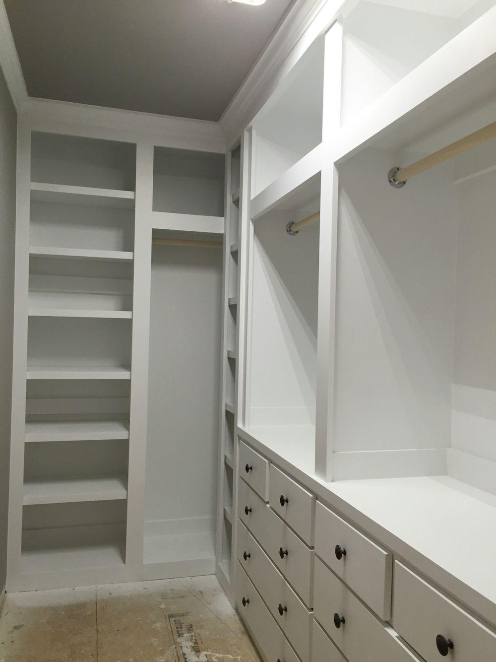 Built in closet in 11 foot by 5 foot room. Closet built