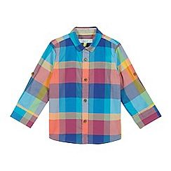 b266fda0ce101 Baker by Ted Baker - Boys  multi-coloured checked print shirt