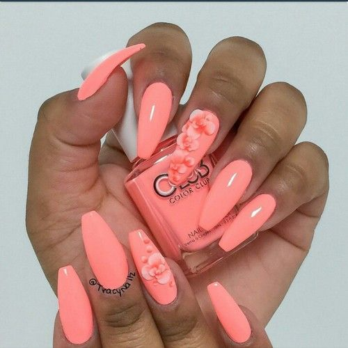 Coral coffin nails pretty n a i l s pinterest coffin nails coral coffin nails prinsesfo Gallery
