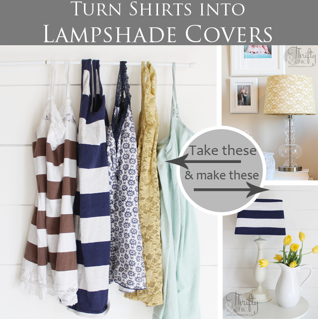Turn old shirts into lampshade covers lampshades craft and crafty turn old shirts into lampshade covers aloadofball Choice Image