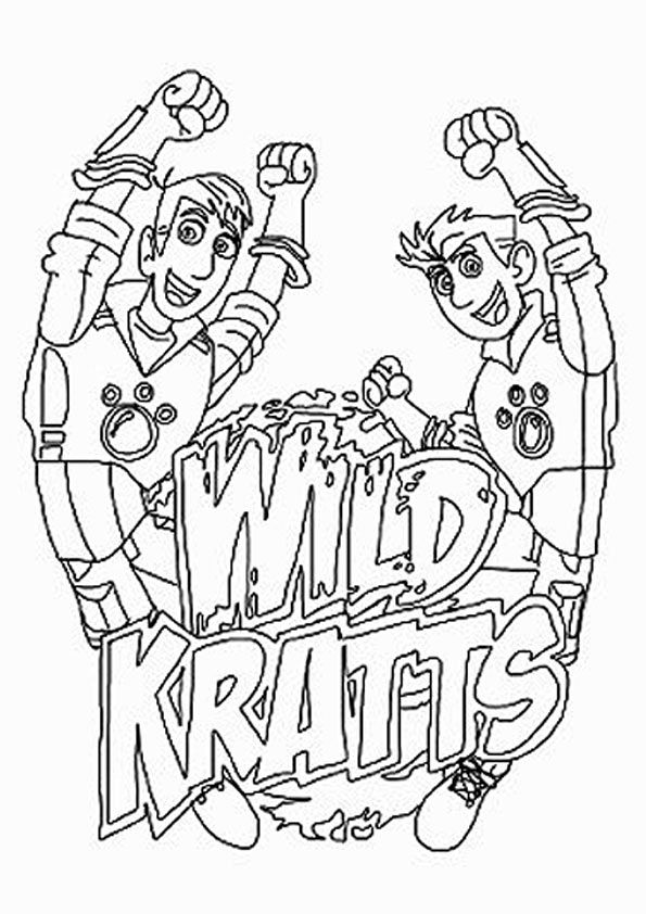 print coloring image Wild kratts Birthdays and Birthday party ideas